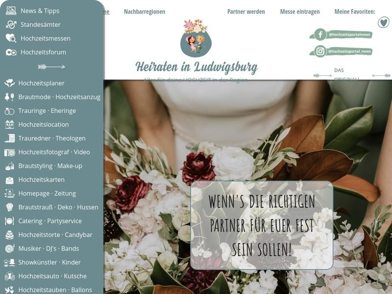 Screenshot von http://www.heiraten-in-ludwigsburg.de/